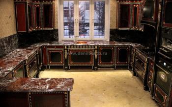 Столешницы для барной стойки из мрамора Россо Леванто
