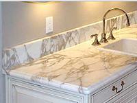 Столешница в ванную под раковину из камня