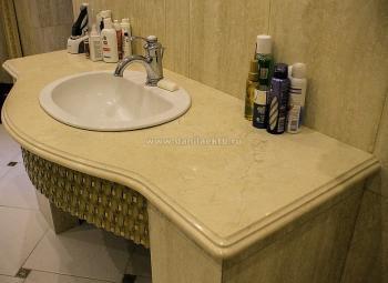 Столешница в ванну из мрамора