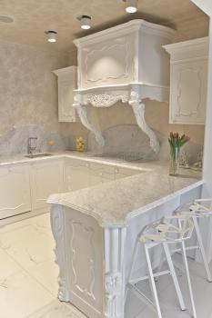 Столешницы для кухни из мрамора Каррара