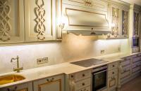Столешница для кухни из белого мрамора