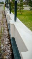 Колпак на забор из белого мрамора
