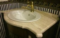 Столешница для ванной из мрамора Дайна Реале