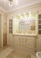 Столешница из мрамора Крема Марфил для ванной